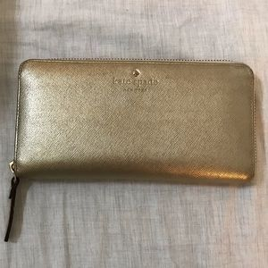 Kate Spade Gold Cameron Street Lacey Wallet